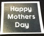 Happy Mothers Day word stencils for etching on glass  gift present